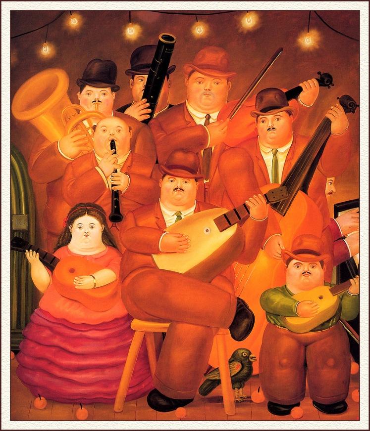 """Fernando Botero """"Los Musicos"""" (1979)"""